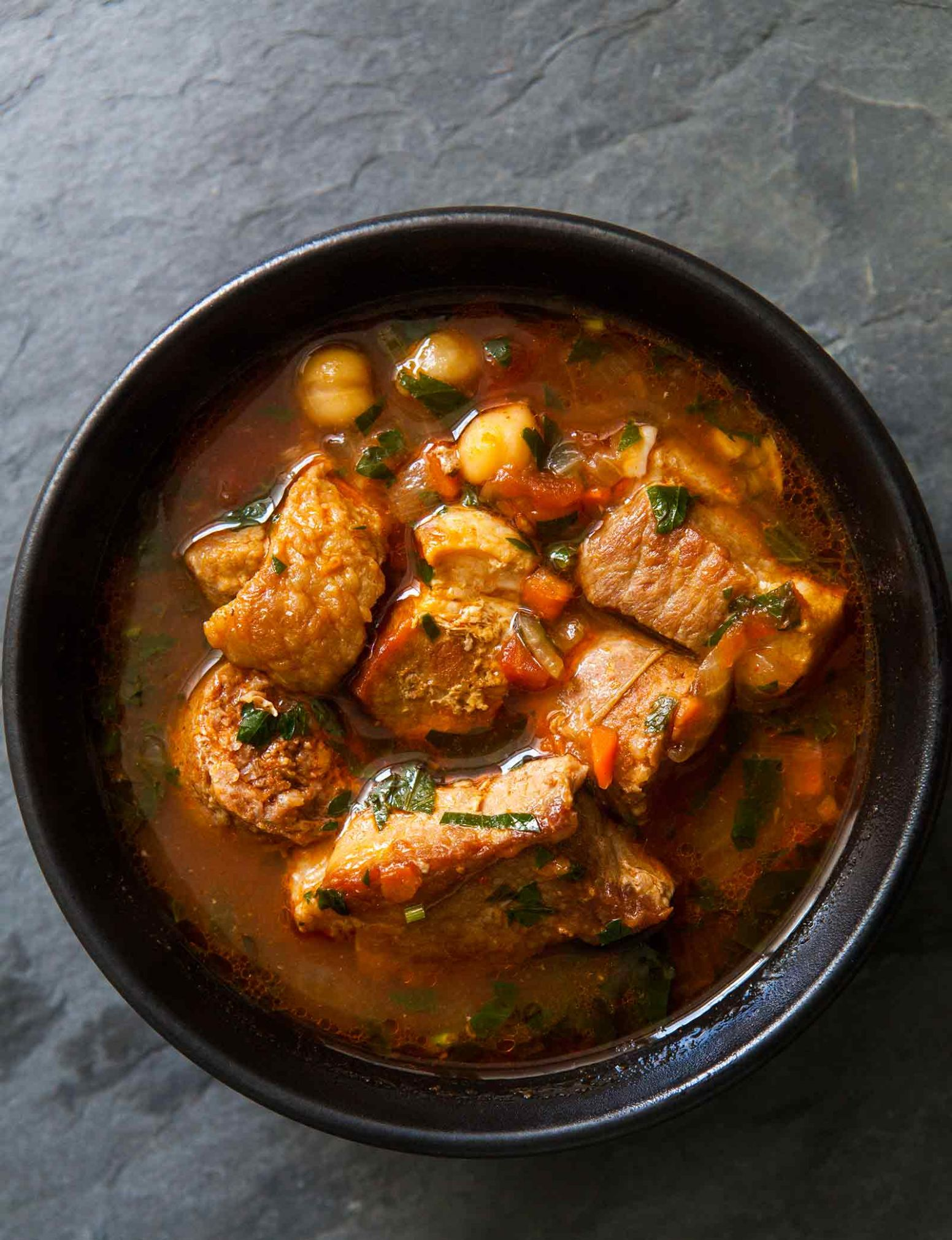 Spicy Pork Stew with Chickpeas and Sausage - Recipes Using Pork Stew Meat