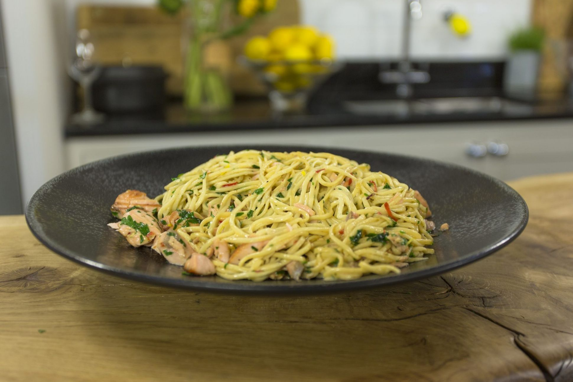 Spicy Salmon Linguine | James Martin Chef - Pasta Recipes James Martin