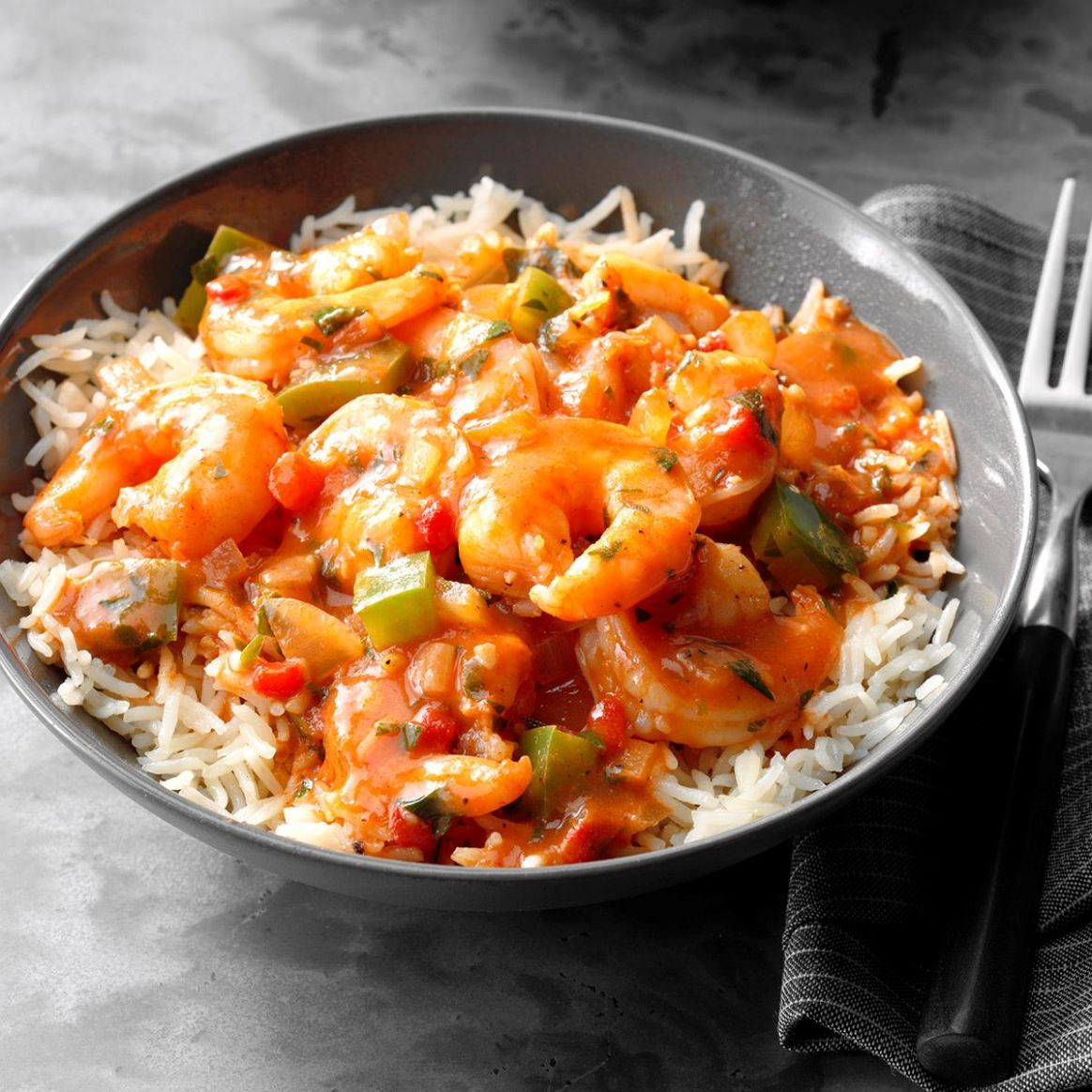 Spicy Shrimp with Rice - Recipes Rice Shrimp