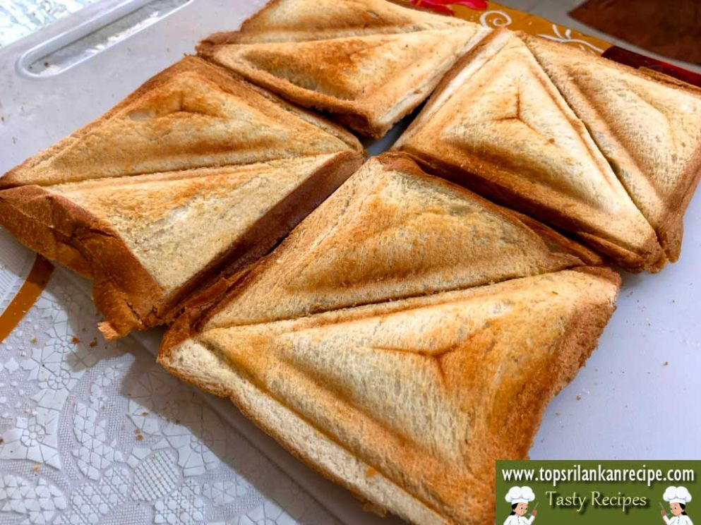 Spicy Tinned Fish Sandwich Toast Recipe with Potato Masala - Sandwich Recipes In Sinhala