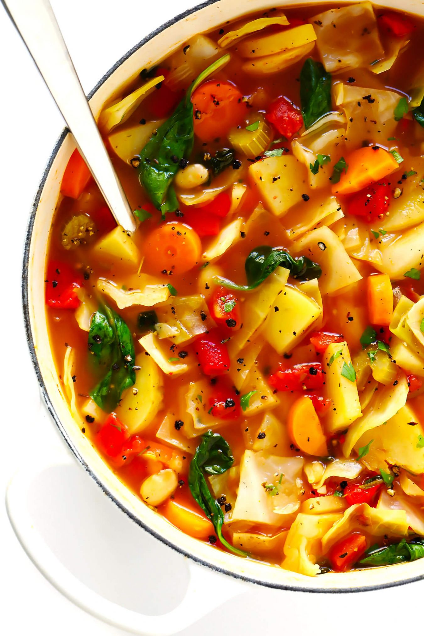 Spicy Vegetarian Cabbage Soup | Gimme Some Oven