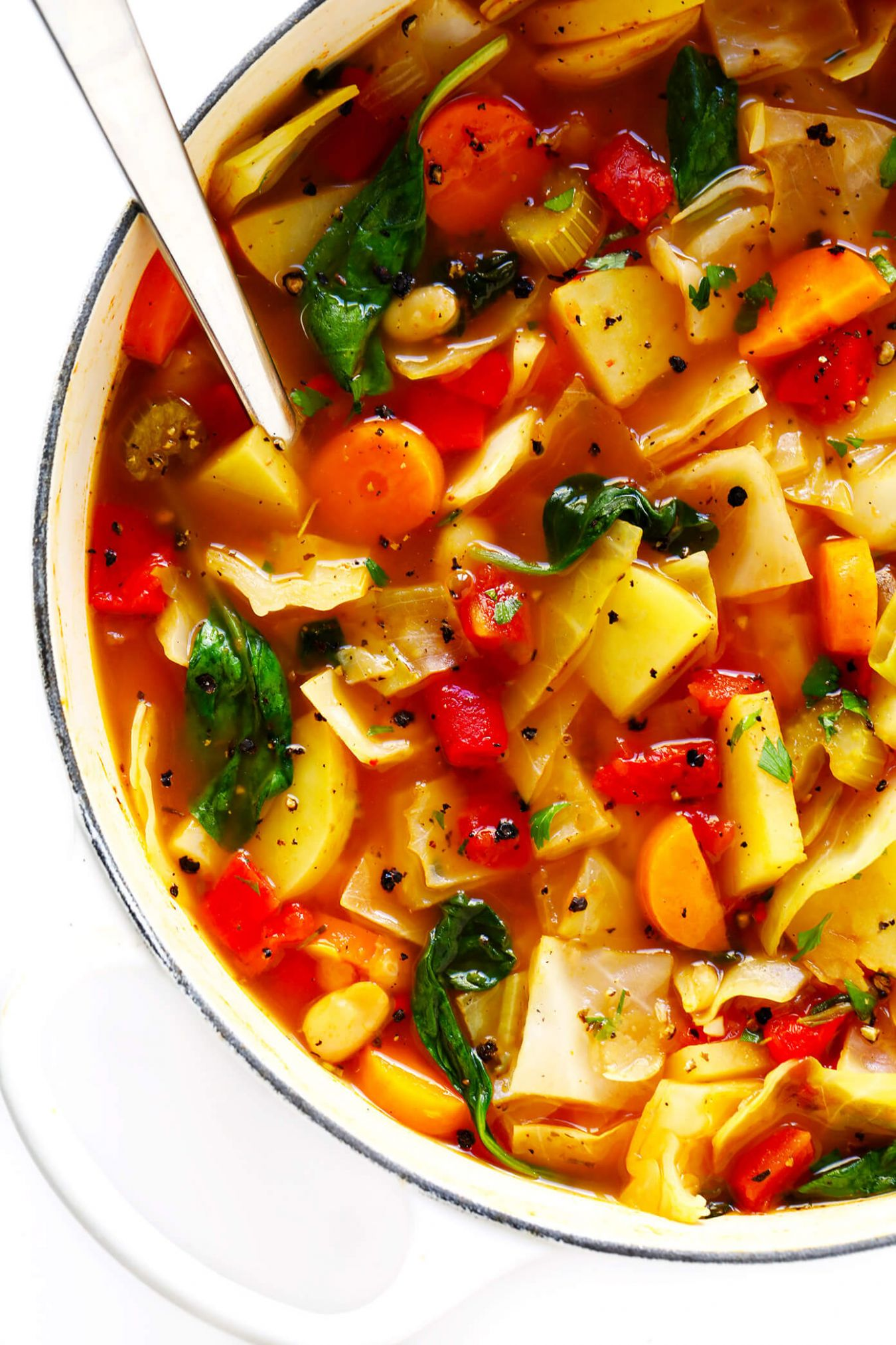 Spicy Vegetarian Cabbage Soup - Soup Recipes Vegan