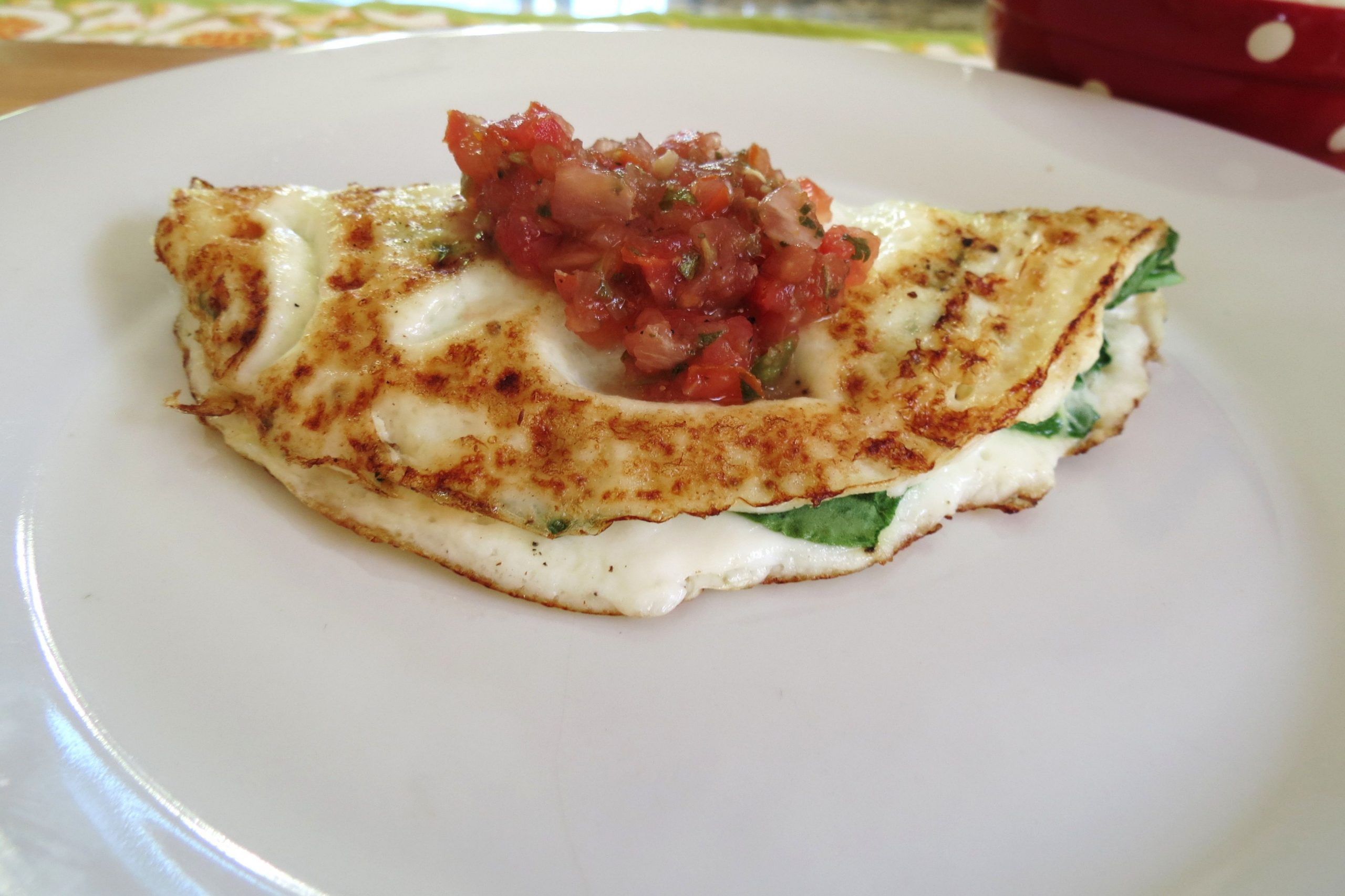 Spinach and Cheese Egg White Omelet