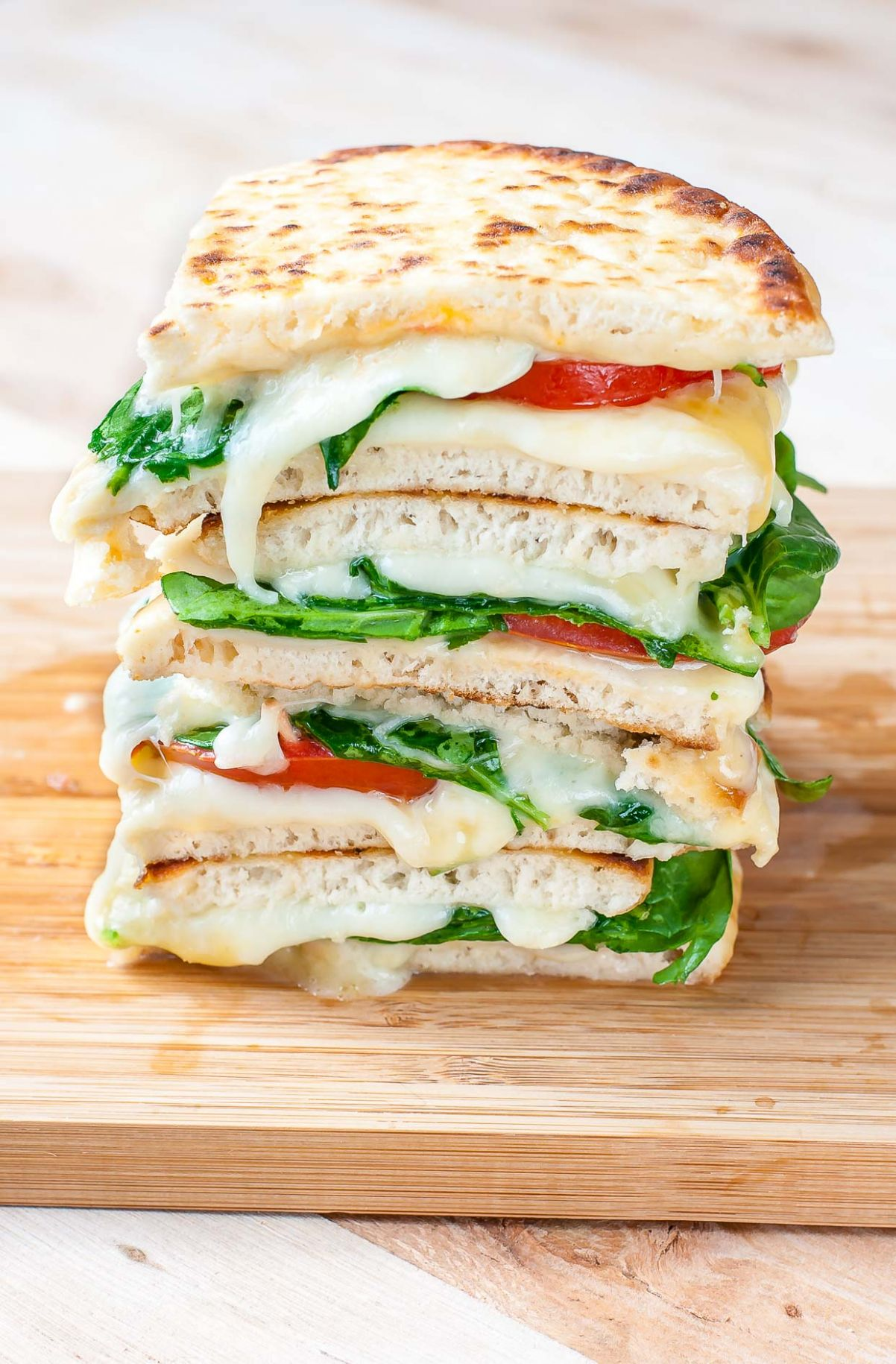 Spinach and Tomato Grilled Cheese Pitas - Sandwich Recipes Grilled Cheese