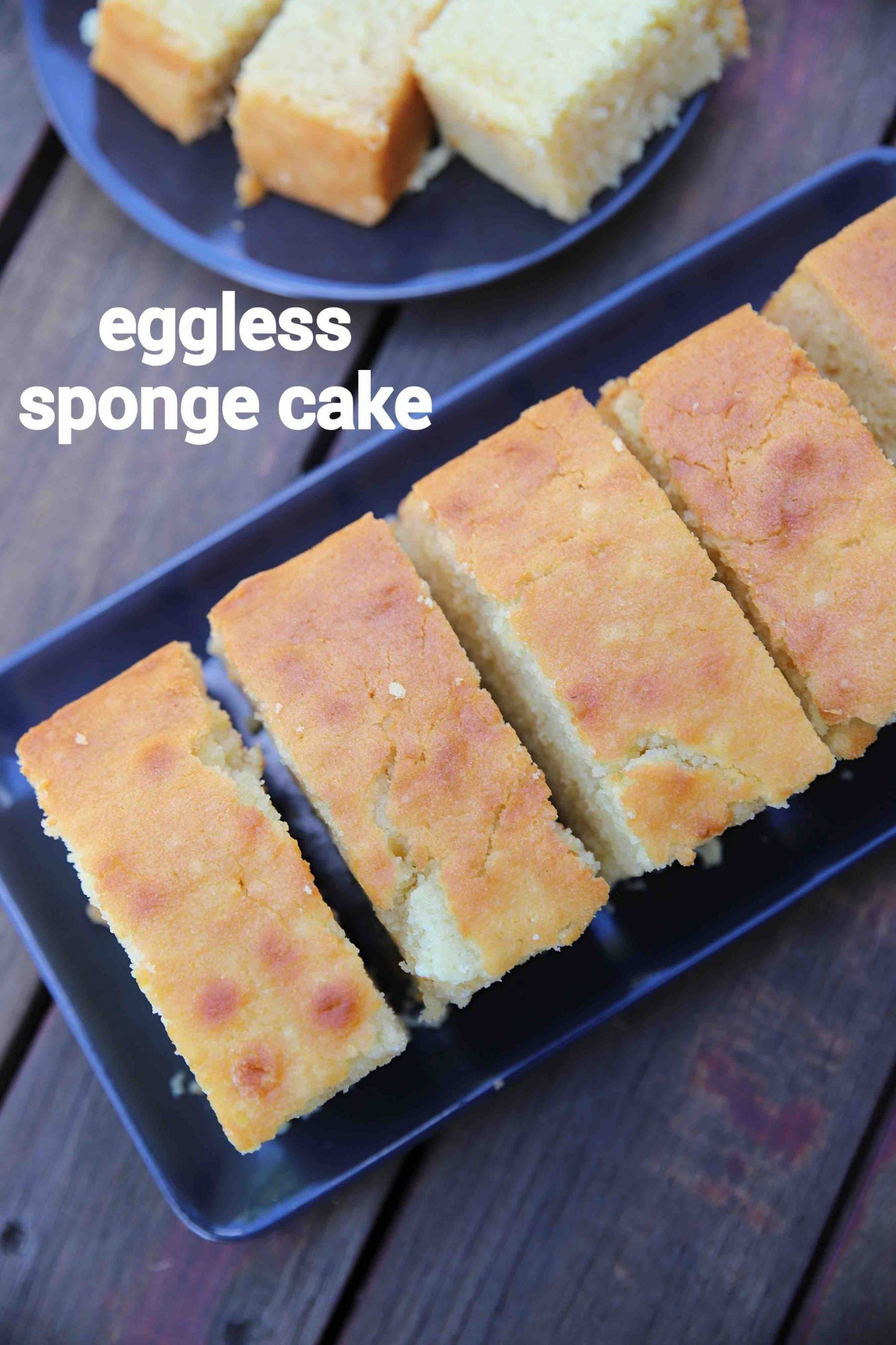 sponge cake recipe | eggless sponge cake | plain cake recipe