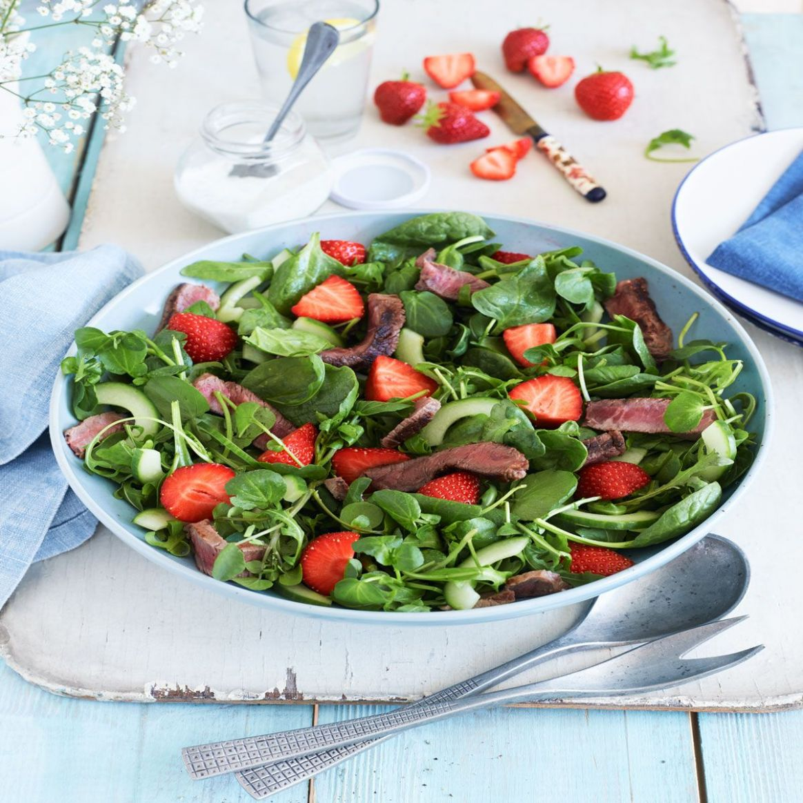 Steak and strawberry salad - Summer Recipes Good Housekeeping