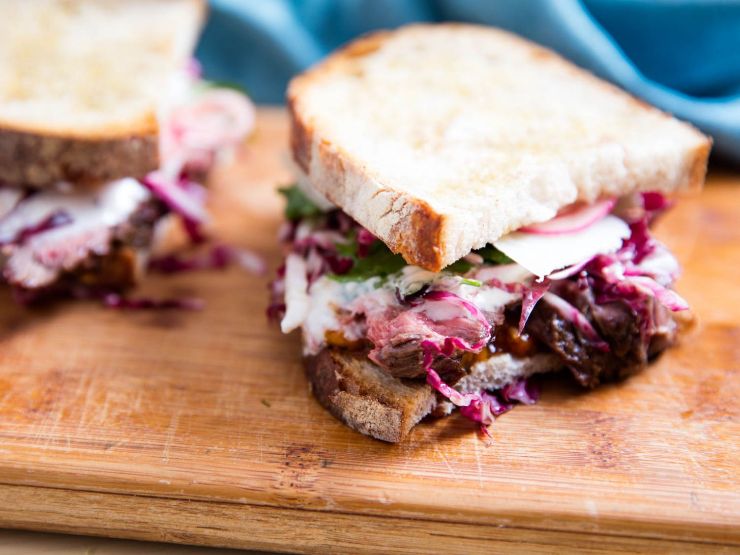 Steak Sandwiches With Roasted Tomatoes, Parmesan, and Radicchio Recipe - Recipes With Sandwich Steak
