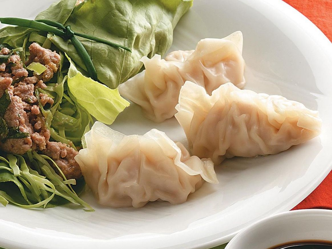 Steamed Pork and Shrimp Dumplings - Recipes Pork Dumplings