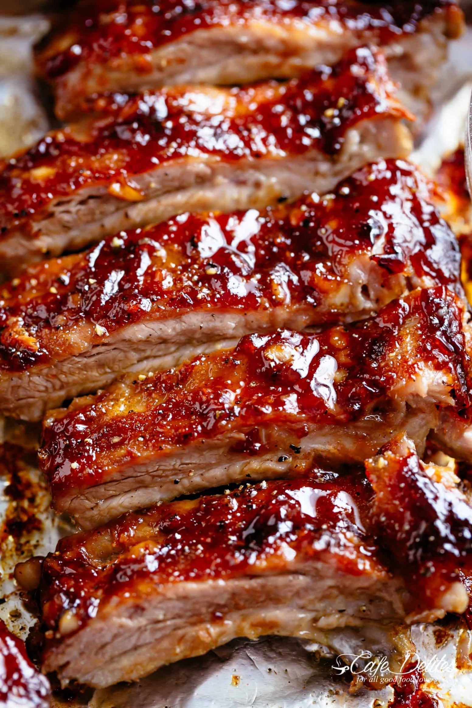 Sticky Oven Barbecue Ribs - Cafe Delites - Recipes Pork Baby Back Ribs