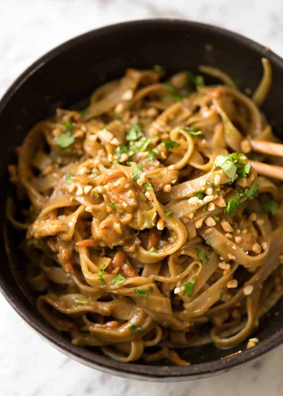 Stir Fried Noodles with Peanut Sauce - Recipes Rice Noodles Peanut Sauce