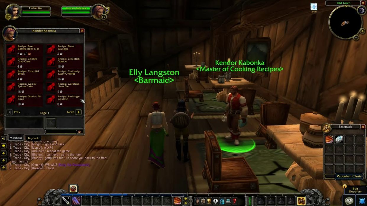 Stormwind Master of Cooking Recipes location - WoW Classic - Cooking Recipes Vanilla Wow