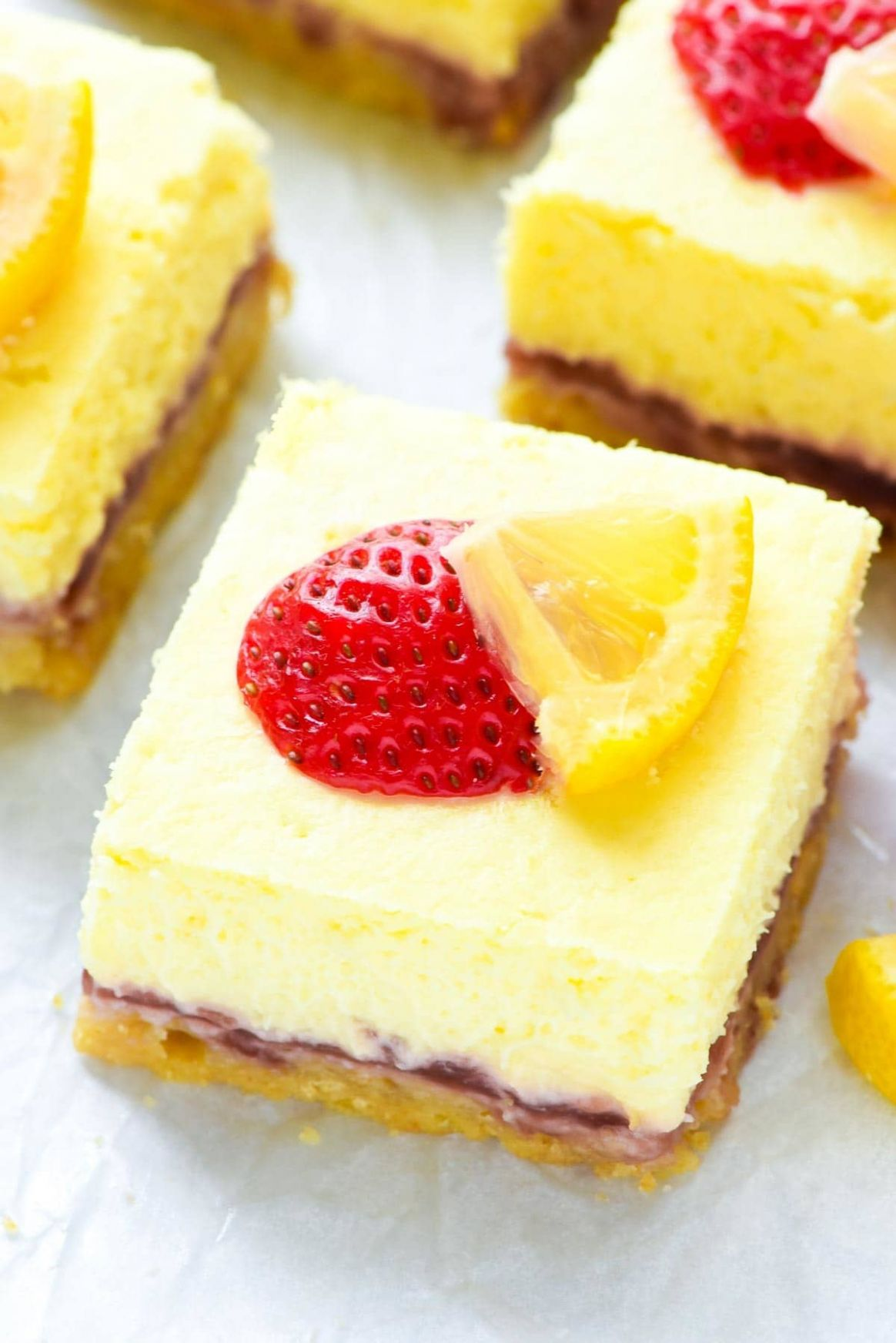 Strawberry Lemon Cream Cheese Bars - Recipes Summer Desserts