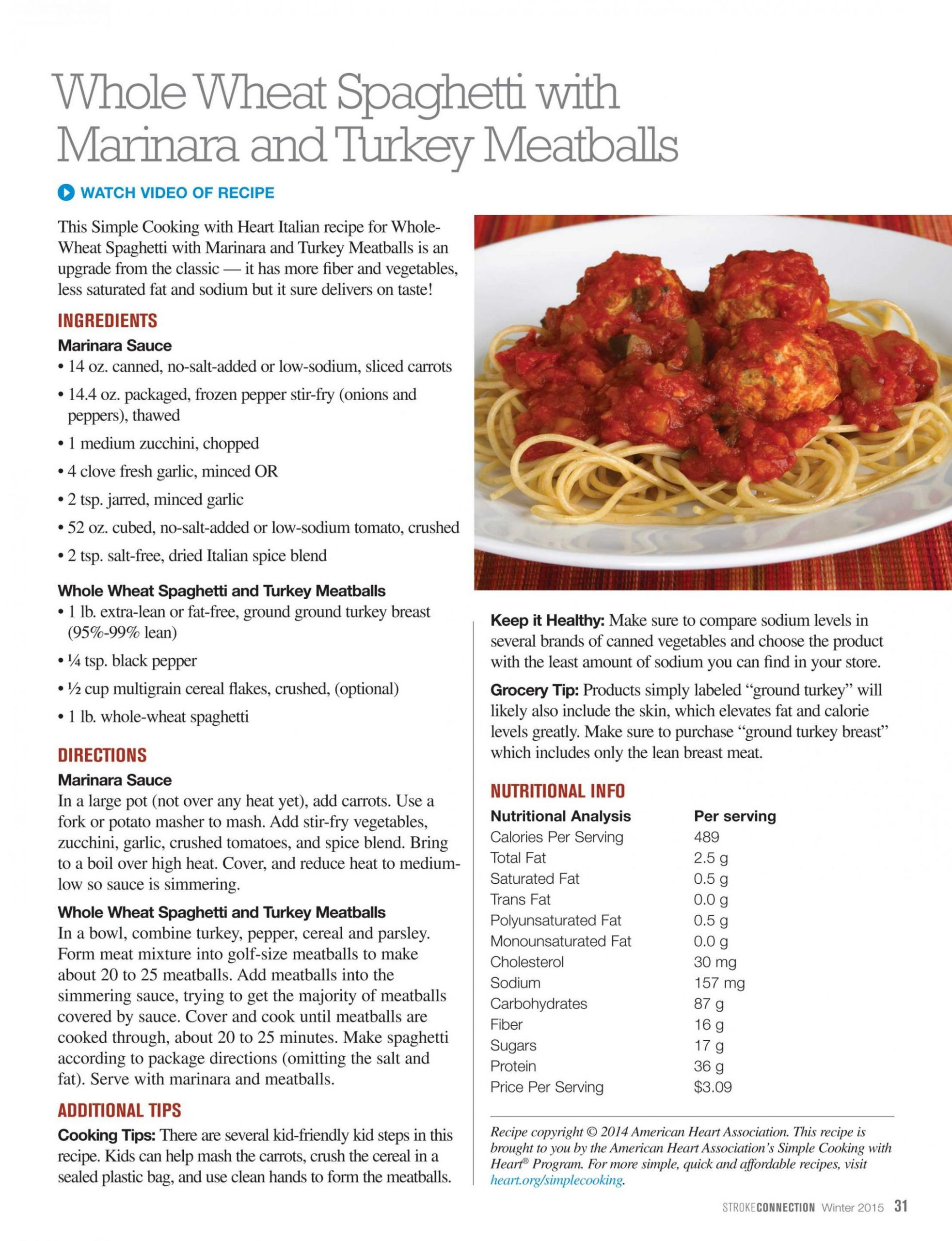 Stroke Connection - Winter 10 - page 10 - Simple Recipes Analysis