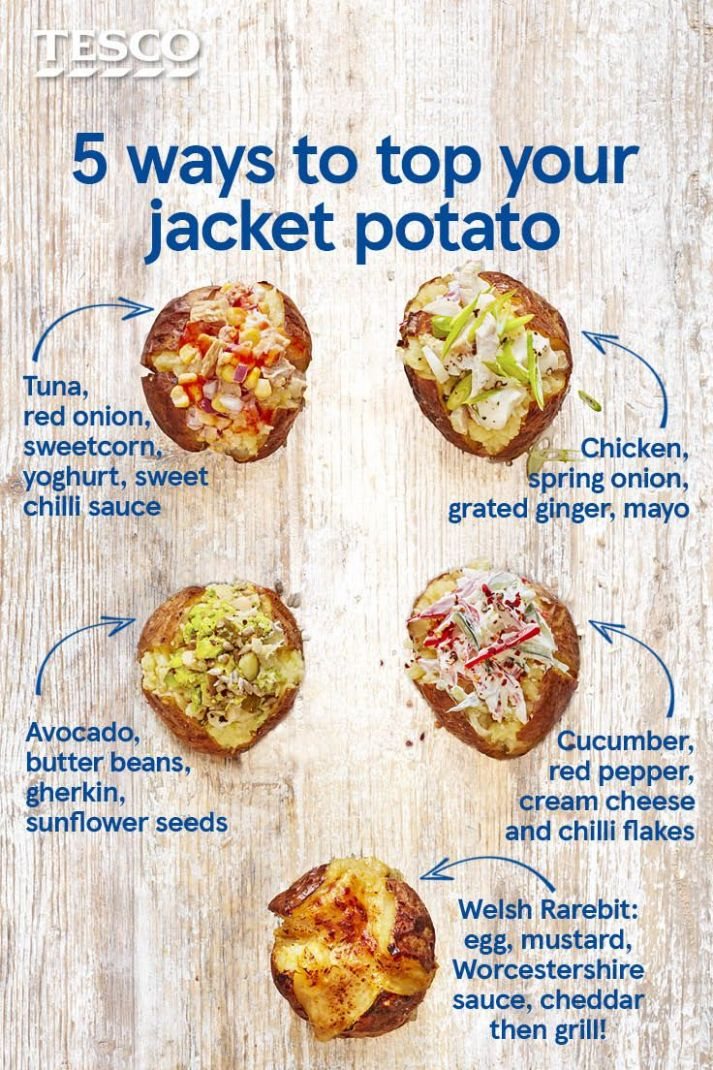 Stuck for jacket potato topping ideas? Go beyond beans and cheese ..