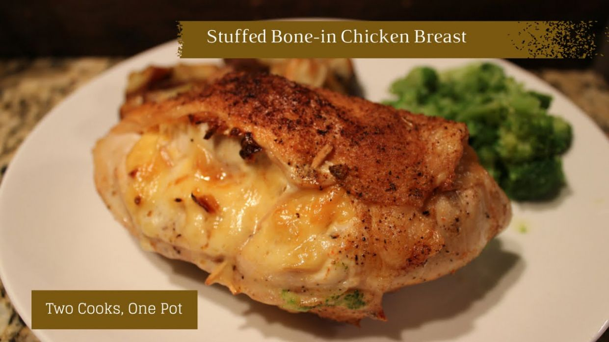 Stuffed Bone-in Chicken Breasts - Recipes Chicken Breast With Ribs Attached