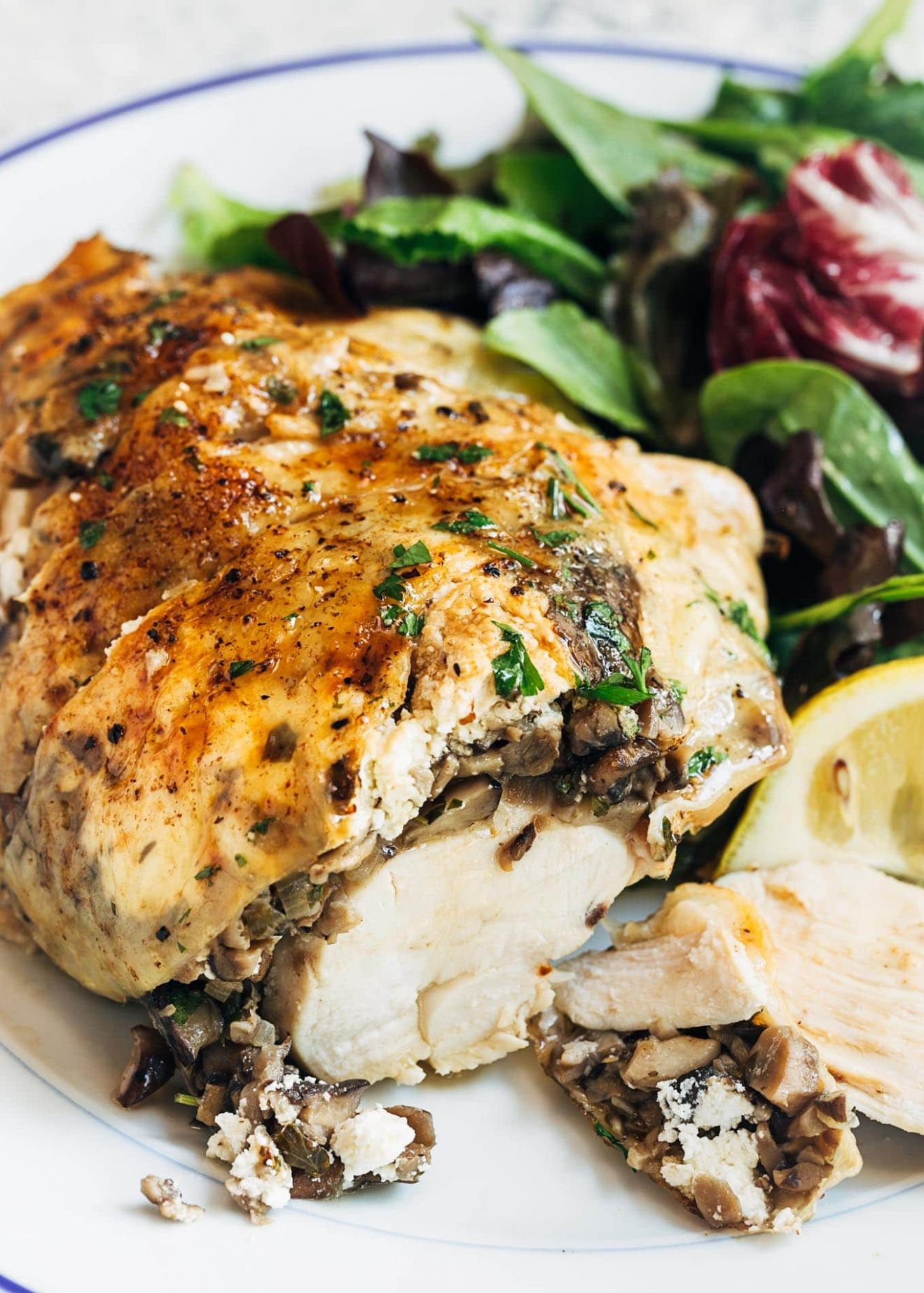 Stuffed Chicken Breasts with Mushrooms & Goat Cheese - Recipes Chicken Breast And Mushrooms