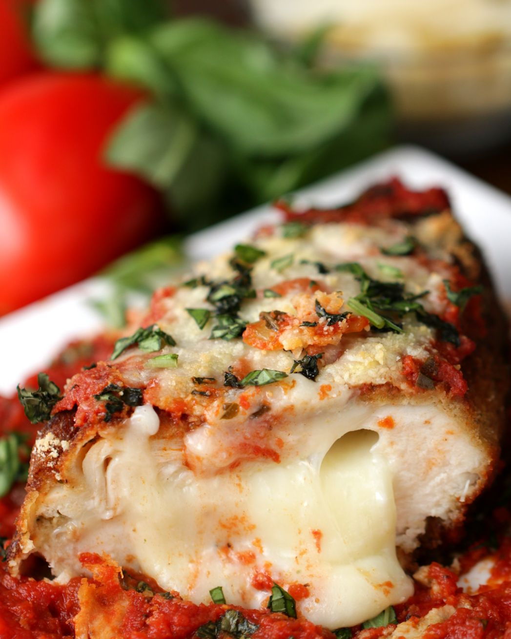 Stuffed Chicken Parmesan Recipe by Tasty - Recipes Chicken Breast Parmesan Cheese