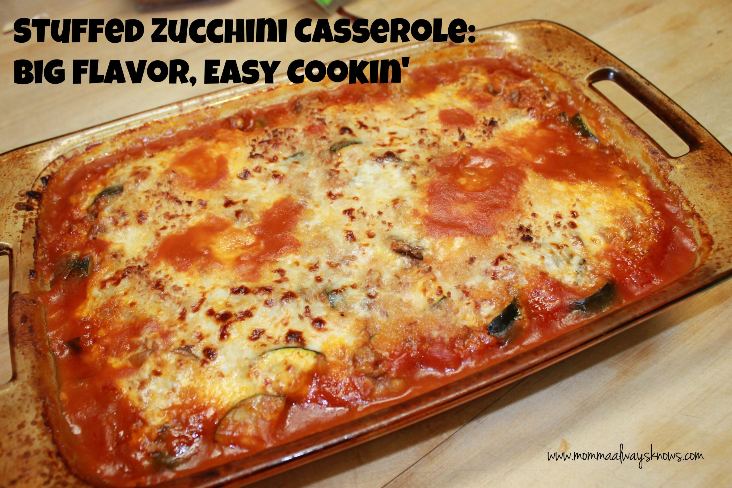 Stuffed Zucchini Casserole: Big Flavor, Easy Cookin ...