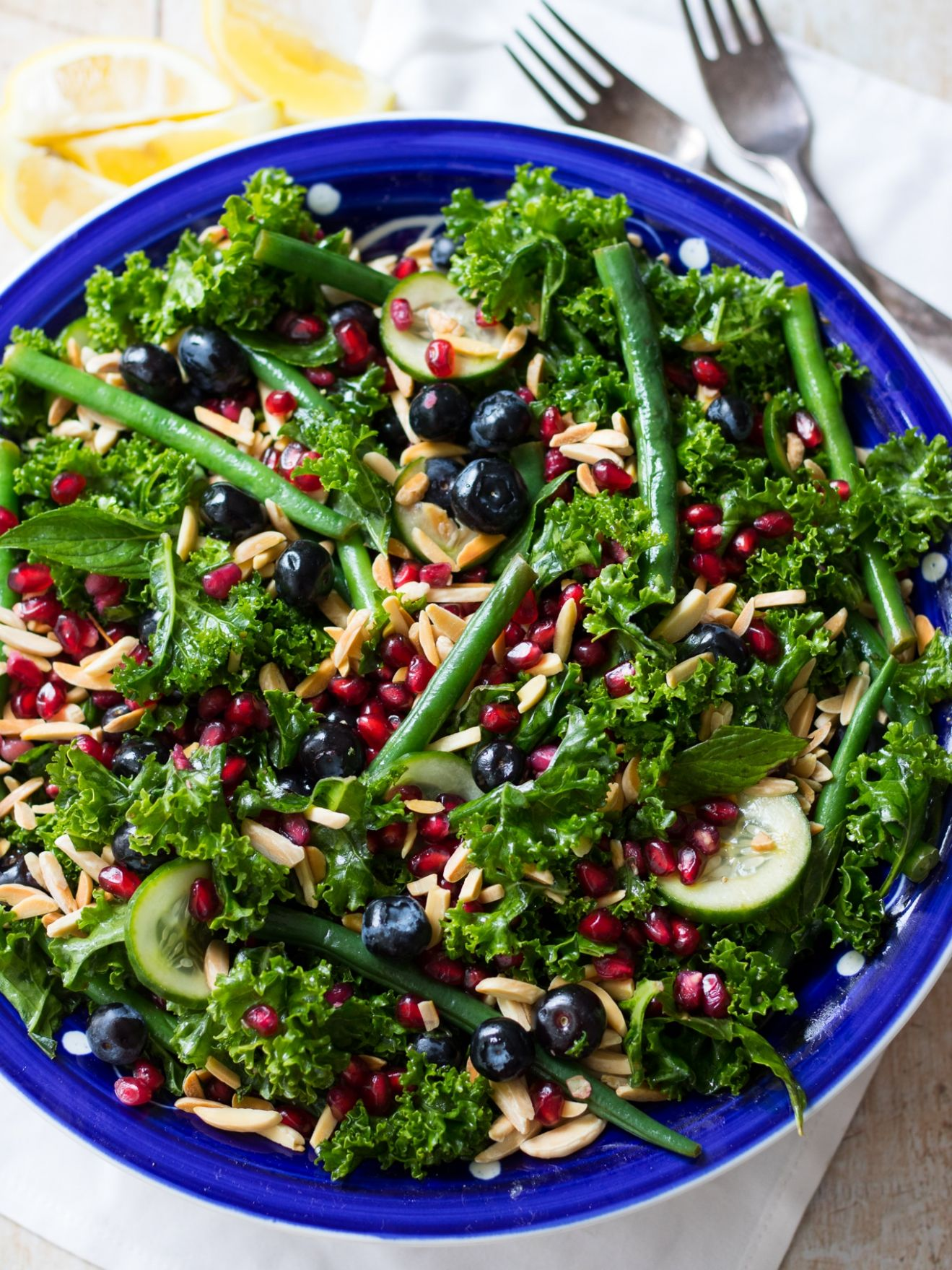 Summer Blueberry Kale Salad