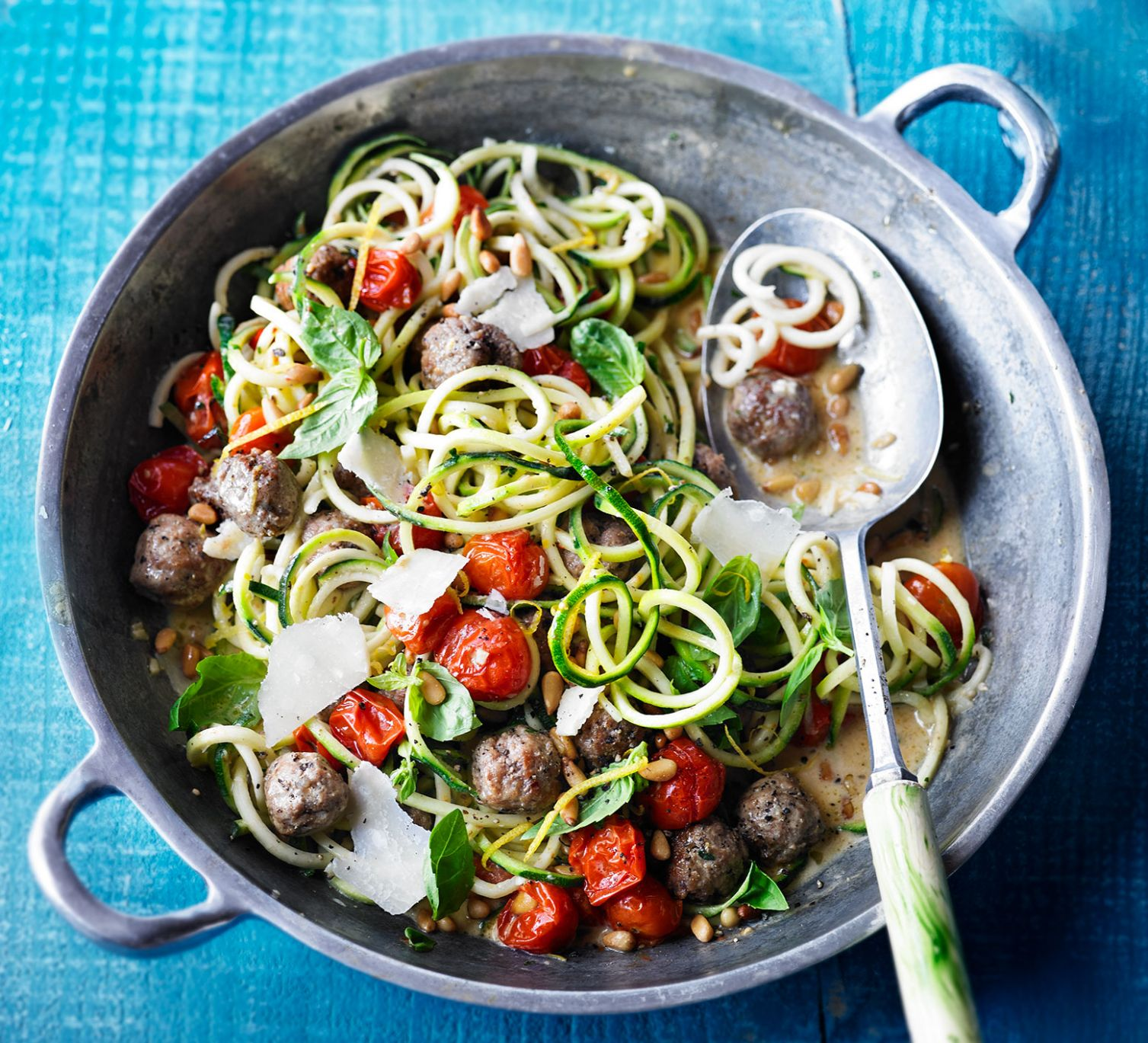 Summer courgetti & meatballs - Summer Recipes With Mince