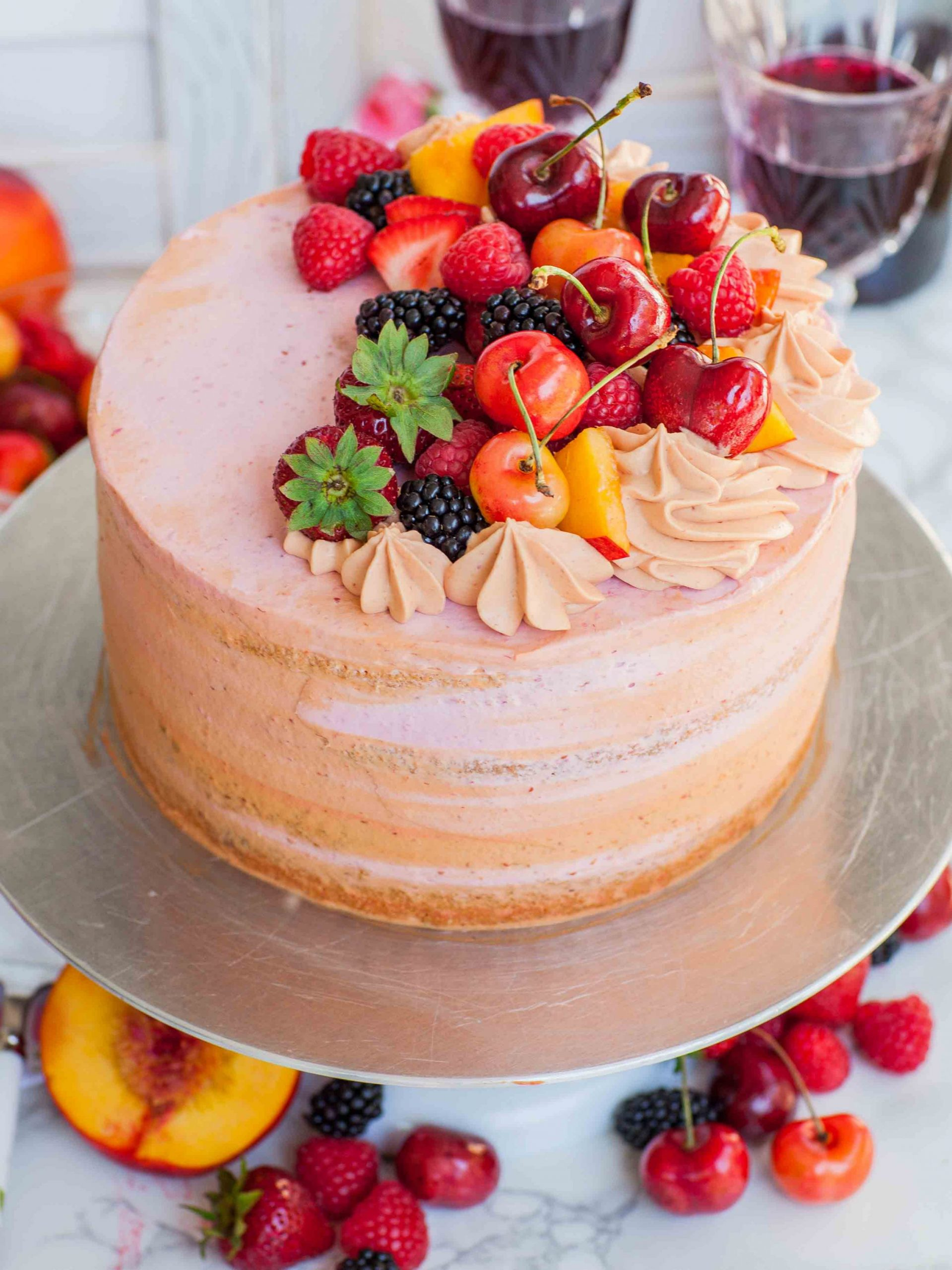 Summer Fruit Sangria Cake Recipe (video) - Recipes Cakes