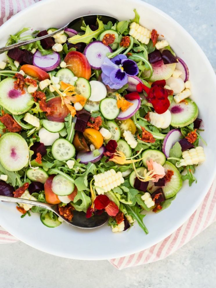 Summer Garden Salad - Recipes Easy Summer Salads