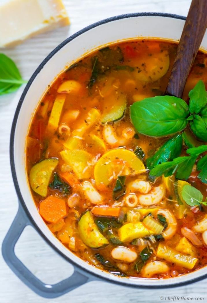 Summer Minestrone Soup Recipe,indian Cuisine,Soups