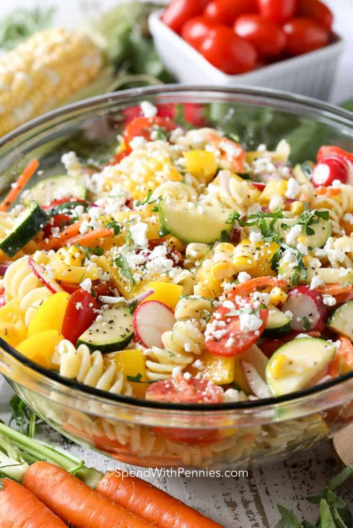 Summer Pasta Salad - Spend With Pennies