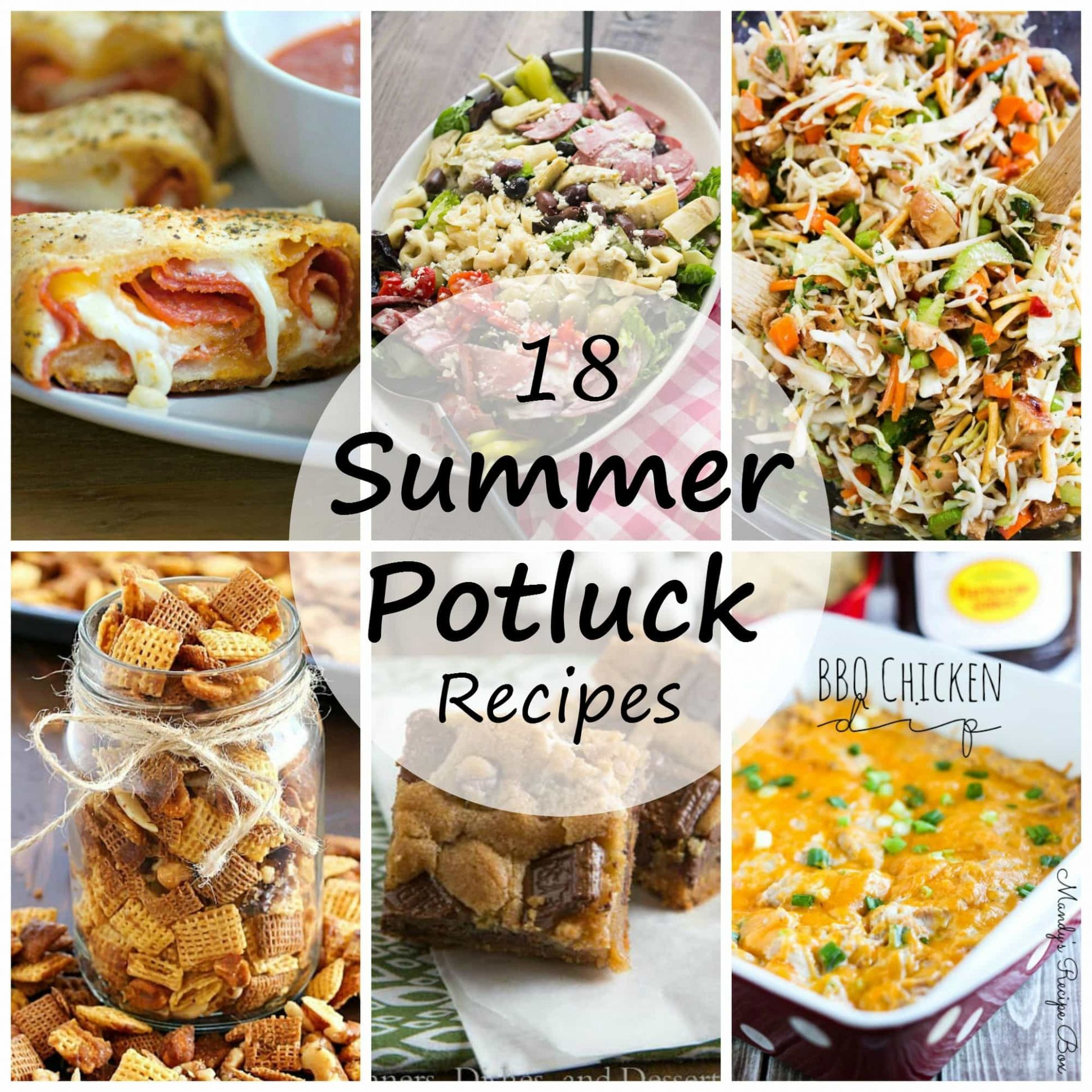 Summer Potluck Recipes - Dinners, Dishes, and Desserts - Recipes Summer Potluck