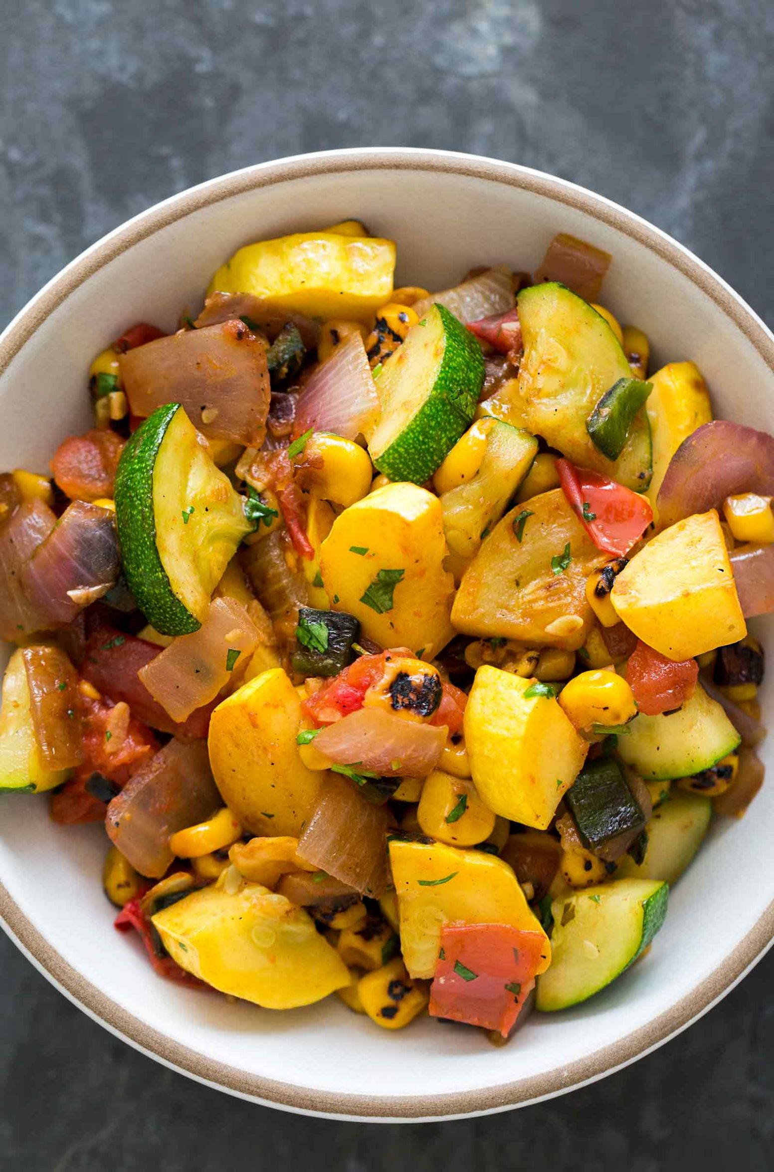 Summer Squash Green Chile Stir Fry - Recipes For Summer Squash And Zucchini