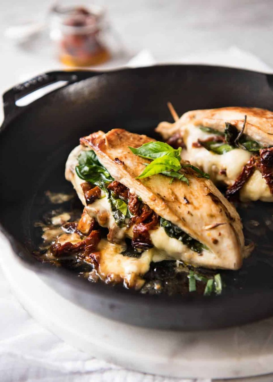 Sun Dried Tomato, Spinach & Cheese Stuffed Chicken Breast - Recipes Chicken Breast Stuffed Spinach