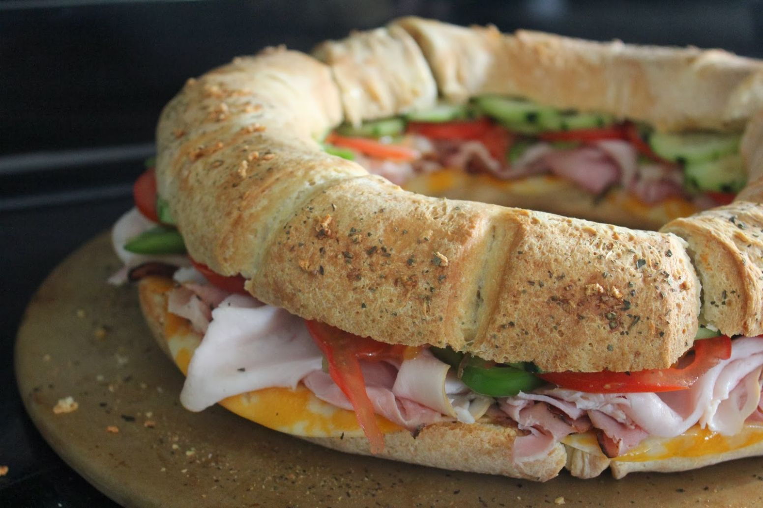 Super Bowl Sandwich Ring Recipe - Fun Cheap or Free - Recipes For Sandwich Ring