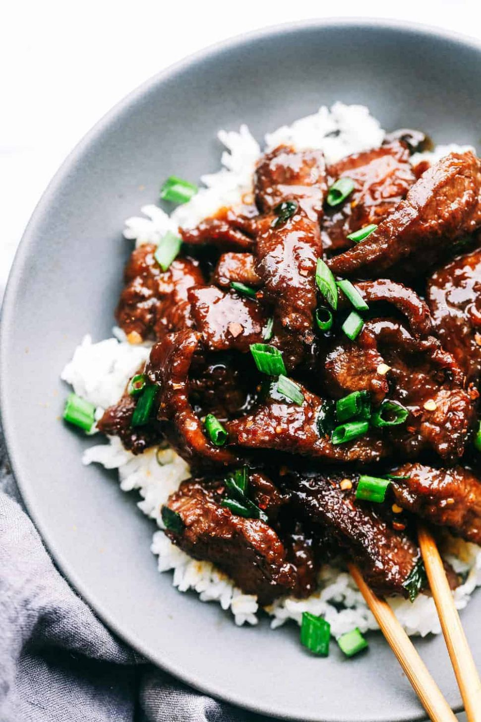 Super Easy Mongolian Beef (Tastes Just like P.F. Changs!)