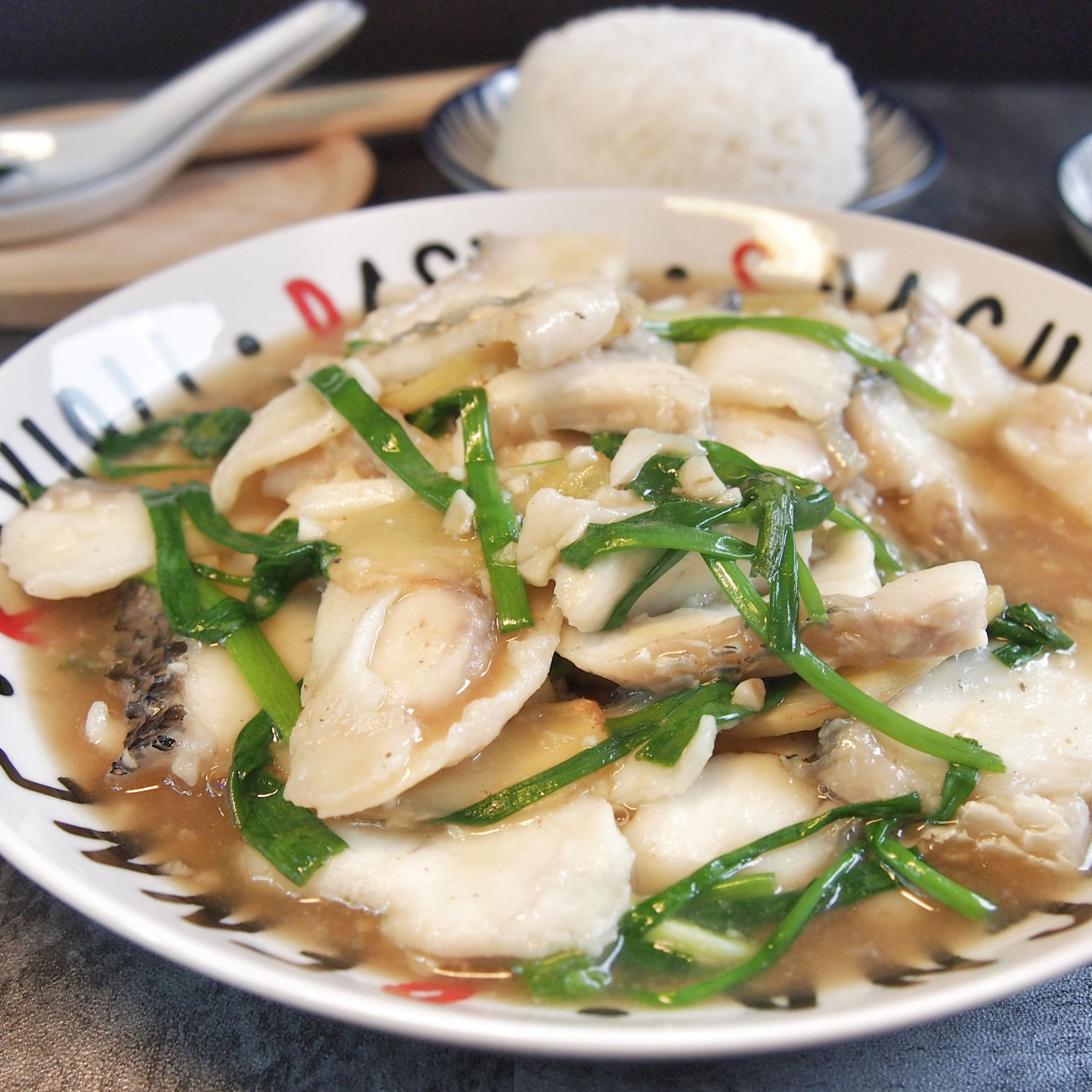 Super Easy Recipe: Stir Fried Fish with Ginger & Spring Onion 姜葱 ...