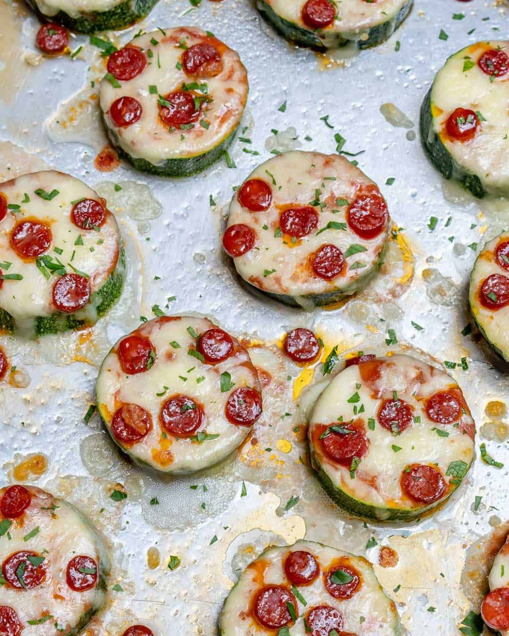 Super Easy Zucchini Pizza Bites Recipe | Healthy Fitness Meals