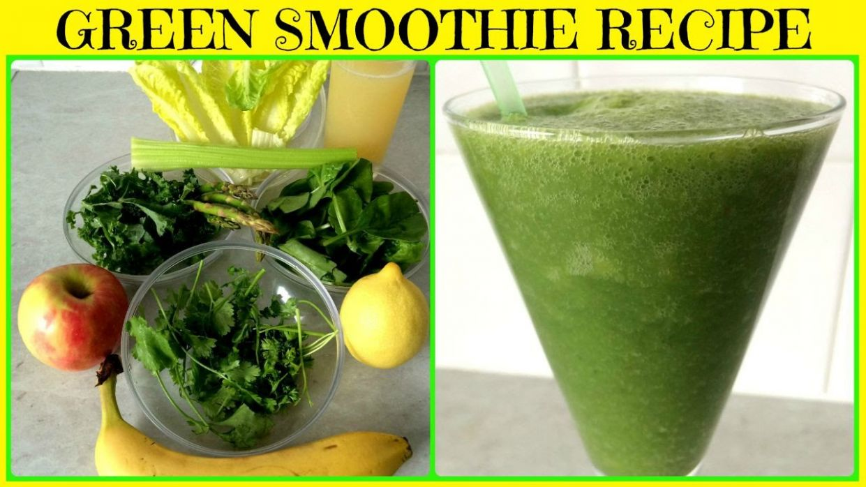 Super Green Smoothie for Glowing Skin, Weight Loss & Detox - Smoothie Recipes For Weight Loss And Detox