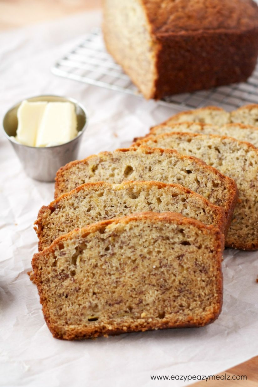 Super Simple Banana Bread - Easy Peasy Meals - Simple Recipes Banana Bread