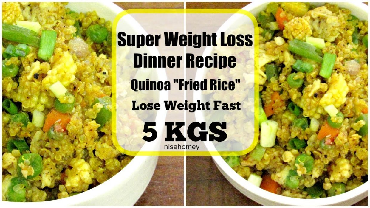 Super Weight Loss Quinoa Fried Rice - Fat Burning Meal/Diet Plan To Lose  Weight Fast -Dinner Recipes - Quinoa Recipes For Weight Loss Indian