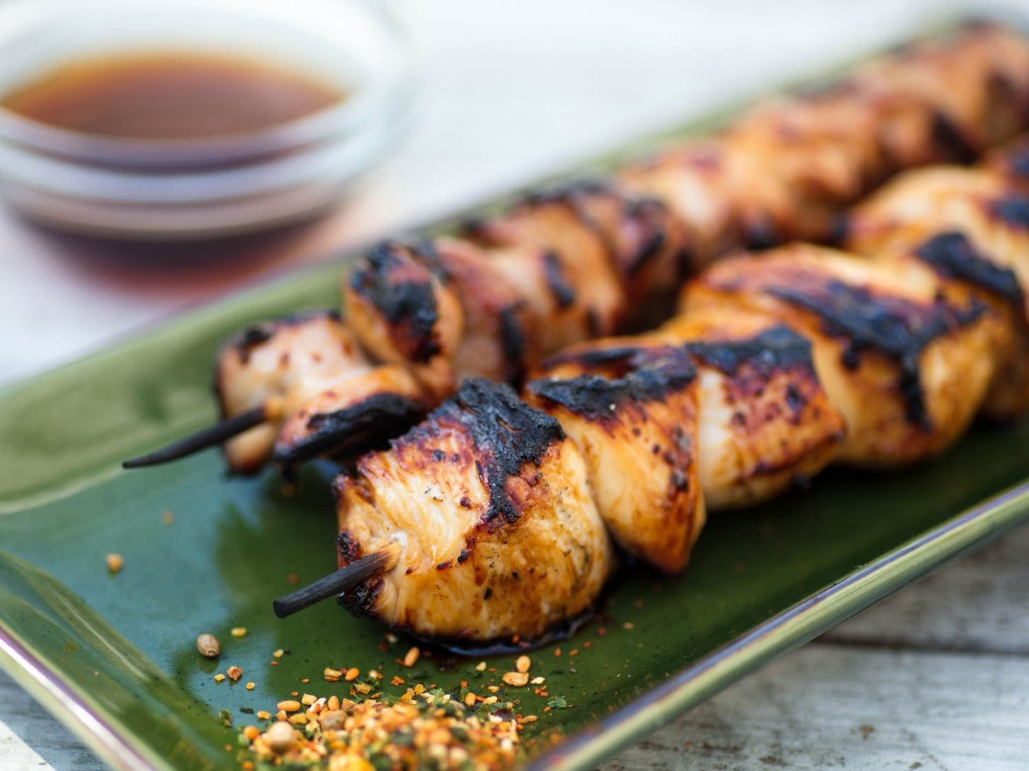 Sweet-and-Sour Grilled Chicken Skewers (Yakitori Nanbansu) Recipe