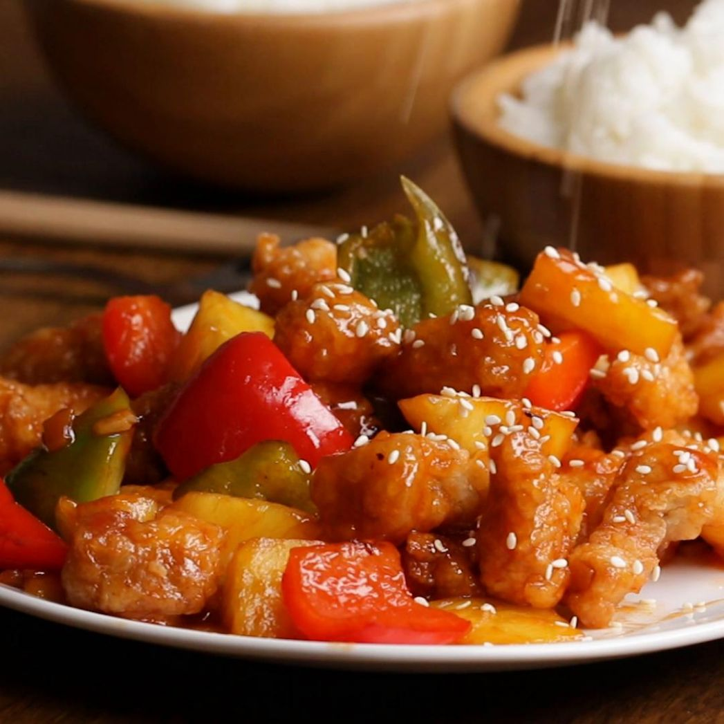 Sweet And Sour Pork Recipe by Tasty