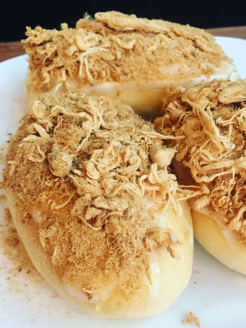 Sweet and tangy Pork Floss Buns Recipe | Amiable Foods - Recipe Pork Floss