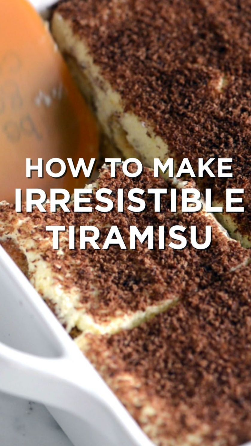 Sweet dessert recipes hard from top chefs | Desserts, Tiramisu ..