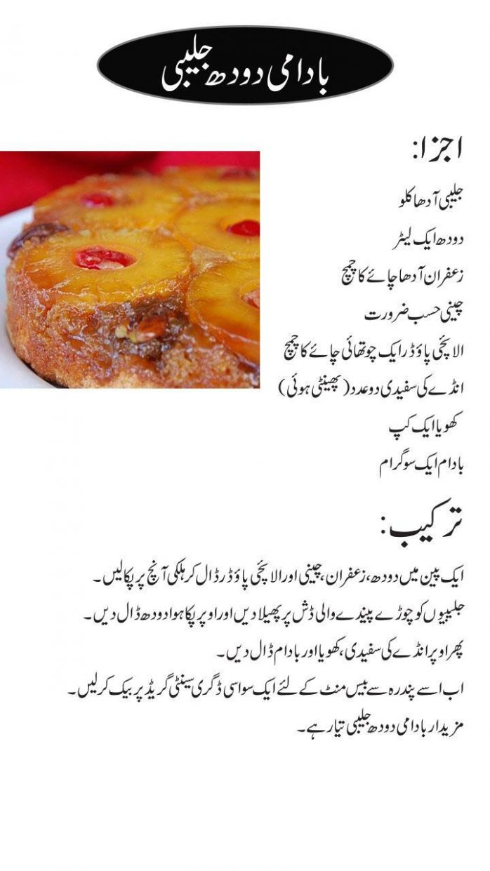 sweet dish recipes urdu for Android - APK Download