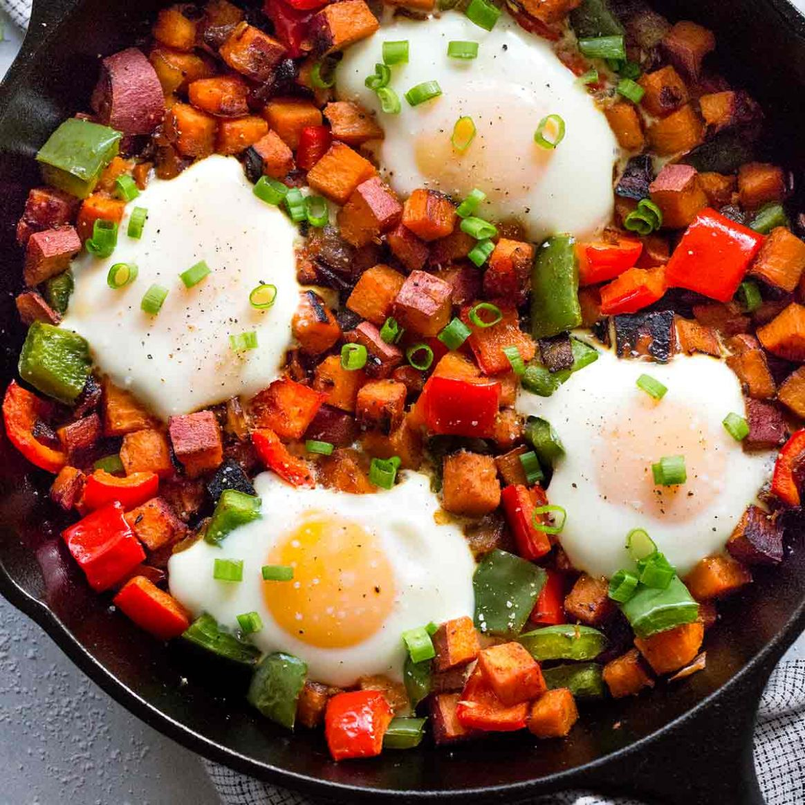 Sweet Potato Hash with Eggs - Recipes Egg Sweet