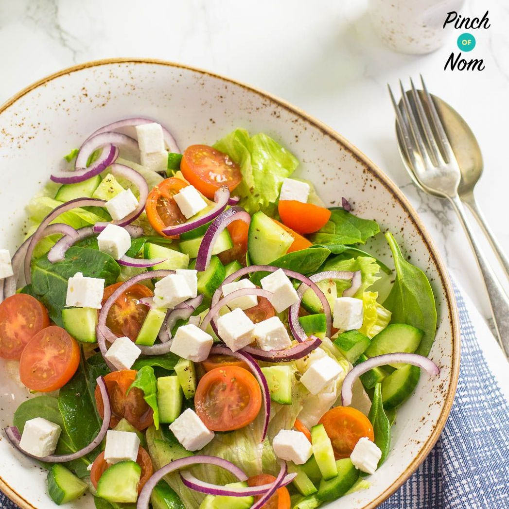 Syn Free Greek Salad | Slimming World | Greek salad, Greek salad ..