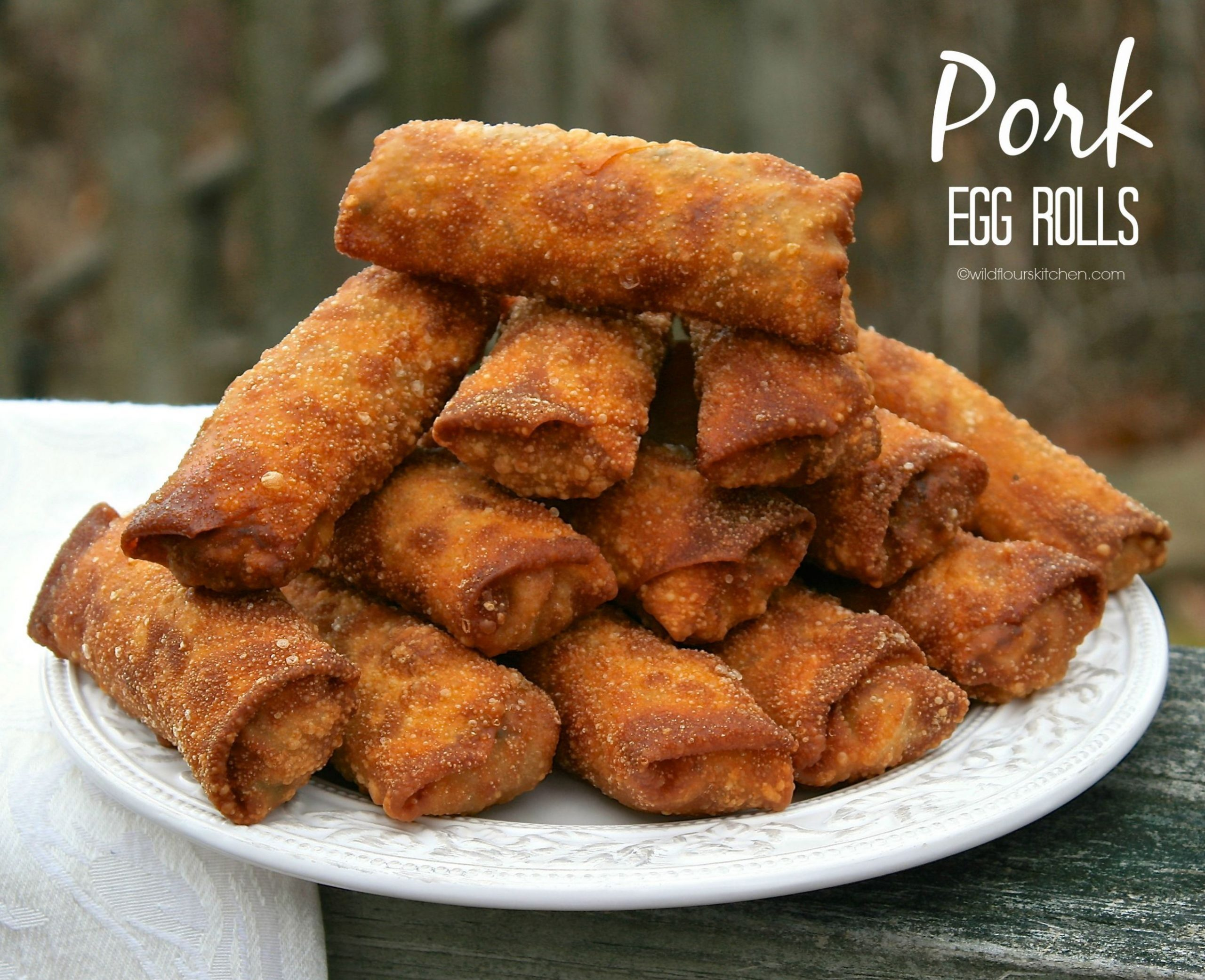 Take-Out Style Authentic Pork Egg Rolls