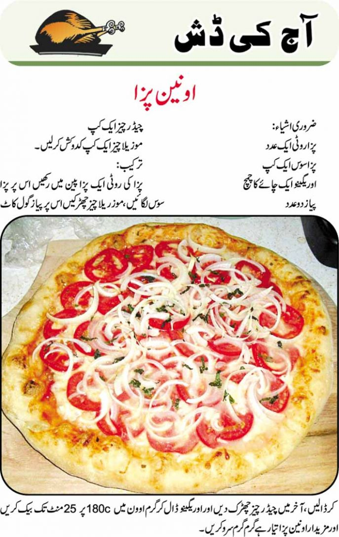 Tasty Onion Pizza In Urdu Recipes