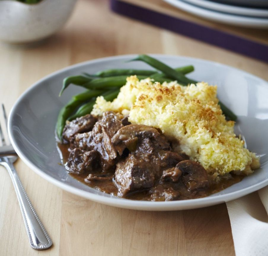 Tender beef potato top crunch | Beef recipes, Beef casserole ...