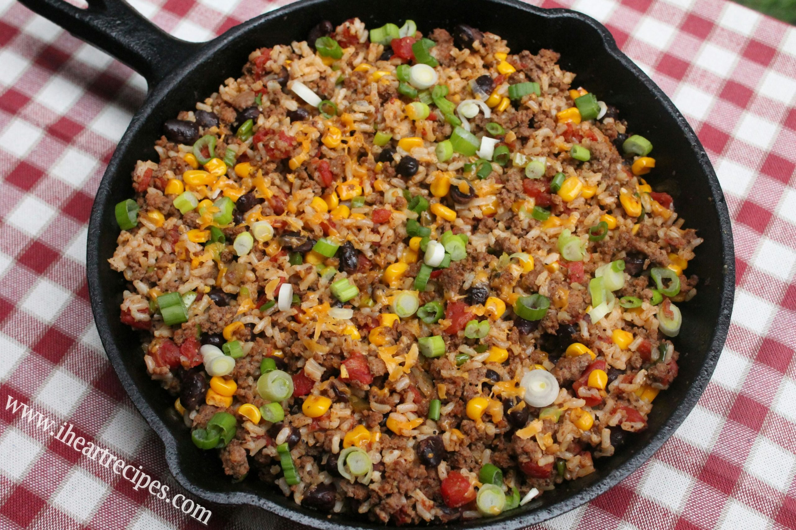 Tex Mex Ground Beef Skillet - Easy Recipes Made With Ground Beef