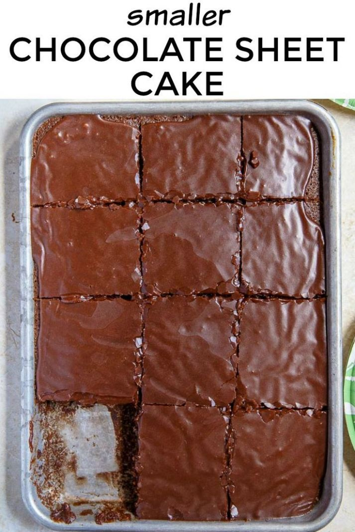 Texas Chocolate Sheet Cake, made smaller! A quarter sheet cake ..